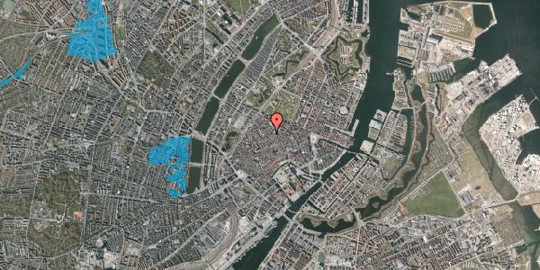 Oversvømmelsesrisiko fra vandløb på Købmagergade 52A, 9. , 1150 København K