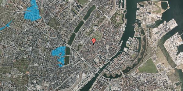 Oversvømmelsesrisiko fra vandløb på Købmagergade 53, 1. th, 1150 København K
