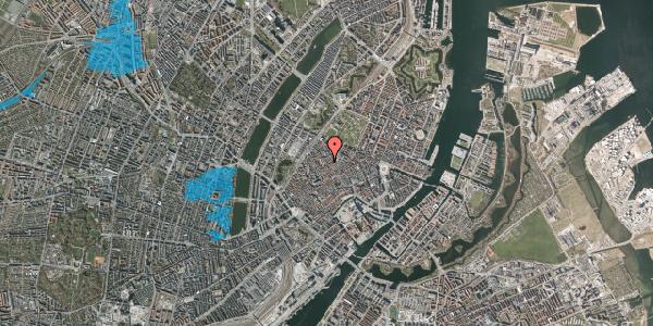 Oversvømmelsesrisiko fra vandløb på Købmagergade 55, 3. , 1150 København K