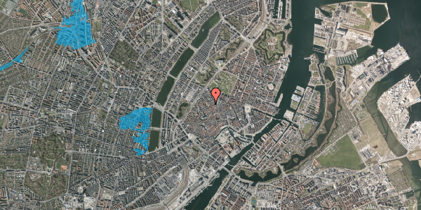 Oversvømmelsesrisiko fra vandløb på Købmagergade 55, 4. , 1150 København K
