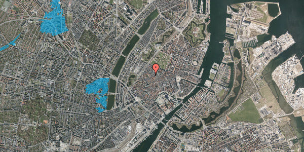 Oversvømmelsesrisiko fra vandløb på Købmagergade 56, 1. , 1150 København K