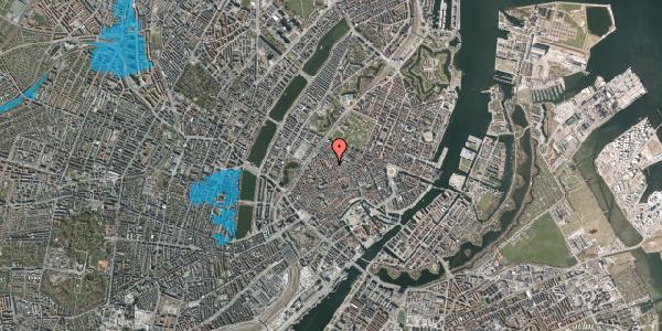 Oversvømmelsesrisiko fra vandløb på Købmagergade 57A, st. 1, 1150 København K