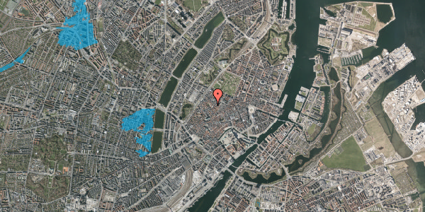 Oversvømmelsesrisiko fra vandløb på Købmagergade 57A, 1. tv, 1150 København K