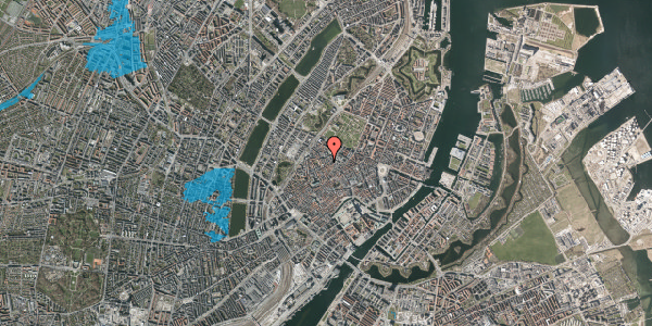 Oversvømmelsesrisiko fra vandløb på Købmagergade 58, st. , 1150 København K