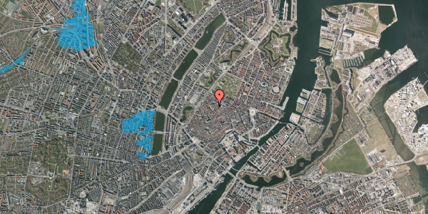 Oversvømmelsesrisiko fra vandløb på Købmagergade 59, 3. , 1150 København K