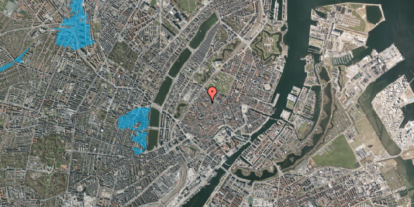 Oversvømmelsesrisiko fra vandløb på Købmagergade 61, 1. , 1150 København K