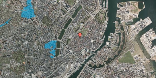 Oversvømmelsesrisiko fra vandløb på Købmagergade 61, 3. , 1150 København K