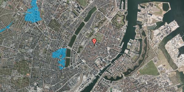 Oversvømmelsesrisiko fra vandløb på Købmagergade 62, st. 1, 1150 København K