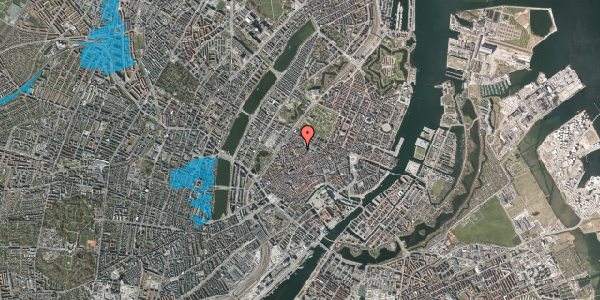 Oversvømmelsesrisiko fra vandløb på Købmagergade 62, 1. 4, 1150 København K