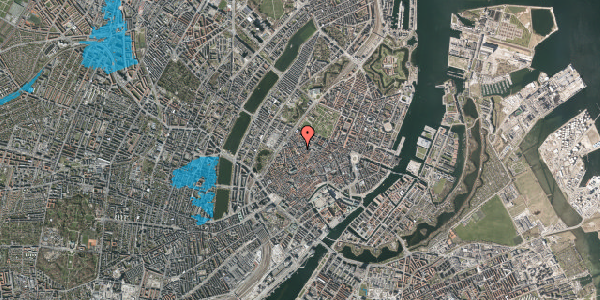 Oversvømmelsesrisiko fra vandløb på Købmagergade 65, 3. th, 1150 København K