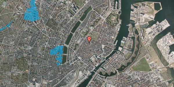 Oversvømmelsesrisiko fra vandløb på Købmagergade 67, 3. tv, 1150 København K