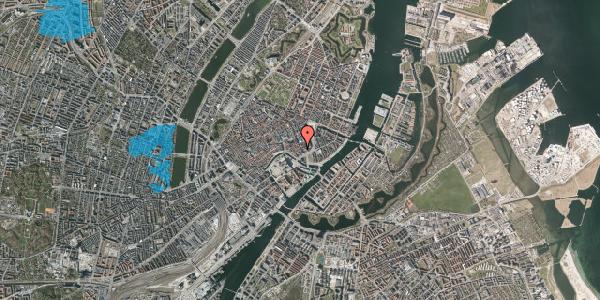 Oversvømmelsesrisiko fra vandløb på Laksegade 20F, 1. th, 1063 København K