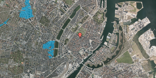 Oversvømmelsesrisiko fra vandløb på Landemærket 9, st. 1, 1119 København K