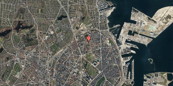Oversvømmelsesrisiko fra vandløb på Lange-Müllers Gade 11, 1. tv, 2100 København Ø
