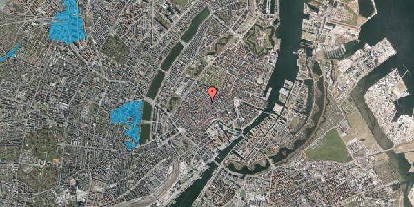 Oversvømmelsesrisiko fra vandløb på Løvstræde 4B, 1. , 1152 København K