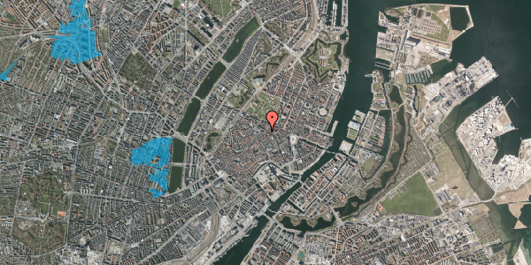 Oversvømmelsesrisiko fra vandløb på Møntergade 10, kl. , 1116 København K