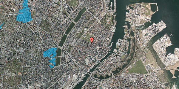 Oversvømmelsesrisiko fra vandløb på Møntergade 22, st. tv, 1116 København K