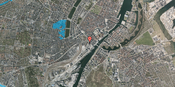 Oversvømmelsesrisiko fra vandløb på Niels Brocks Gade 4, 3. tv, 1574 København V