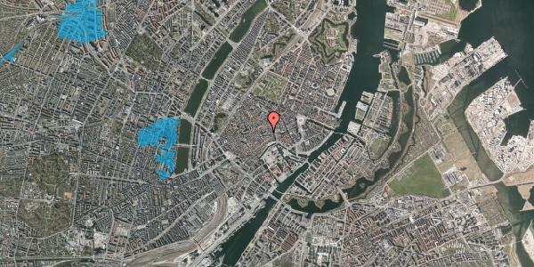 Oversvømmelsesrisiko fra vandløb på Niels Hemmingsens Gade 3, 2. th, 1153 København K