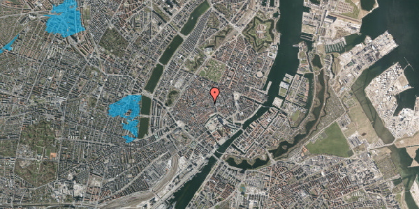 Oversvømmelsesrisiko fra vandløb på Niels Hemmingsens Gade 10, 3. 1, 1153 København K