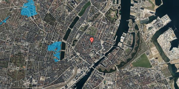 Oversvømmelsesrisiko fra vandløb på Niels Hemmingsens Gade 24, st. , 1153 København K