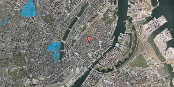 Oversvømmelsesrisiko fra vandløb på Niels Hemmingsens Gade 32A, st. tv, 1153 København K