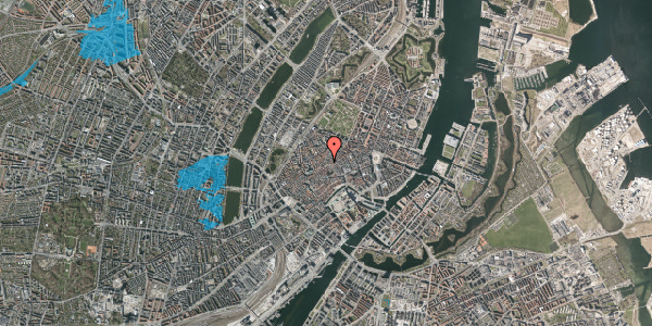 Oversvømmelsesrisiko fra vandløb på Niels Hemmingsens Gade 32, 1. tv, 1153 København K