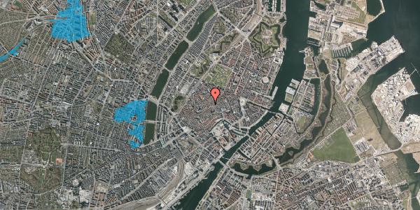 Oversvømmelsesrisiko fra vandløb på Niels Hemmingsens Gade 32, 3. th, 1153 København K
