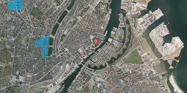 Oversvømmelsesrisiko fra vandløb på Niels Juels Gade 7, 1. , 1059 København K