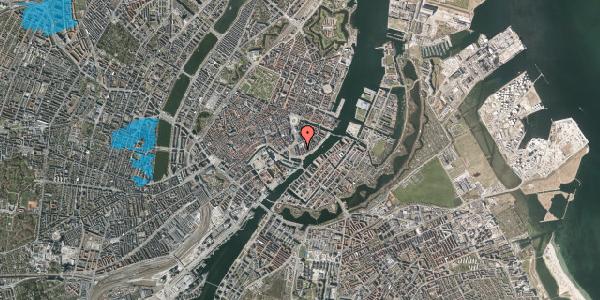 Oversvømmelsesrisiko fra vandløb på Niels Juels Gade 7, 1. 1, 1059 København K