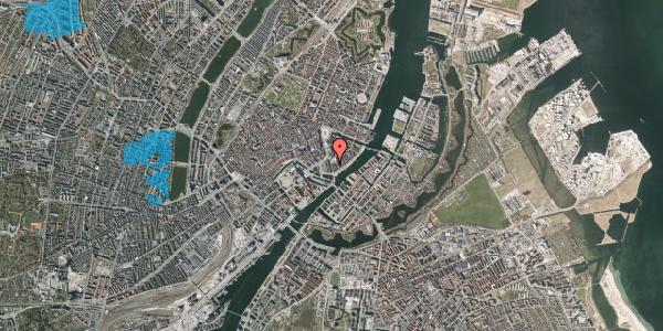 Oversvømmelsesrisiko fra vandløb på Niels Juels Gade 7, 3. , 1059 København K