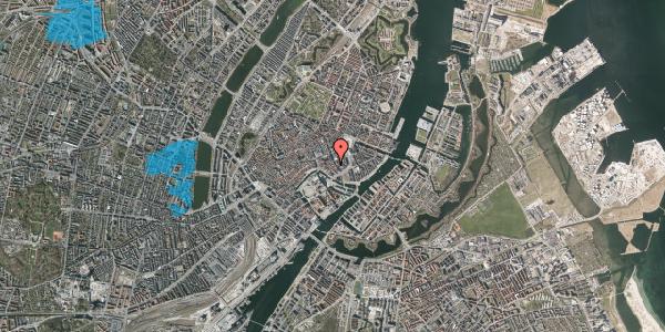 Oversvømmelsesrisiko fra vandløb på Nikolajgade 19, st. 1, 1068 København K