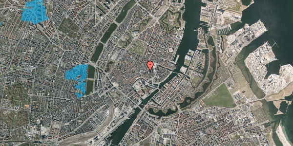 Oversvømmelsesrisiko fra vandløb på Nikolaj Plads 9, 4. tv, 1067 København K