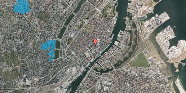 Oversvømmelsesrisiko fra vandløb på Nikolaj Plads 23, 1. , 1067 København K