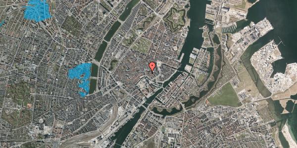 Oversvømmelsesrisiko fra vandløb på Nikolaj Plads 34, 1. tv, 1067 København K