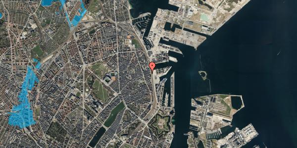 Oversvømmelsesrisiko fra vandløb på Nordre Frihavnsgade 97, 3. , 2100 København Ø