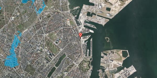 Oversvømmelsesrisiko fra vandløb på Nordre Frihavnsgade 97, 4. tv, 2100 København Ø