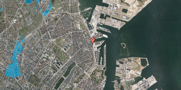 Oversvømmelsesrisiko fra vandløb på Nordre Frihavnsgade 99, 1. th, 2100 København Ø