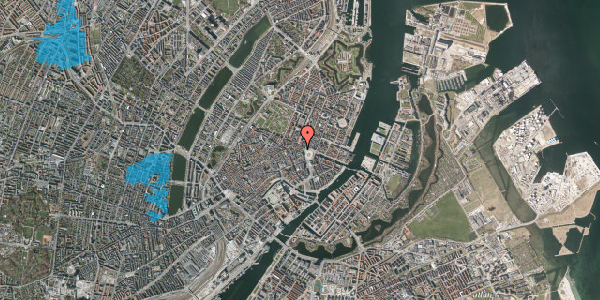 Oversvømmelsesrisiko fra vandløb på Ny Adelgade 3, st. th, 1104 København K