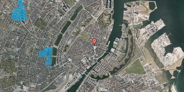 Oversvømmelsesrisiko fra vandløb på Ny Adelgade 4, 4. , 1104 København K