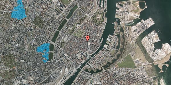 Oversvømmelsesrisiko fra vandløb på Ny Adelgade 5A, 1. tv, 1104 København K
