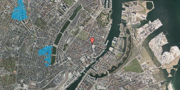 Oversvømmelsesrisiko fra vandløb på Ny Adelgade 5, 2. tv, 1104 København K