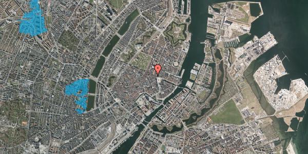 Oversvømmelsesrisiko fra vandløb på Ny Adelgade 6, 1. , 1104 København K