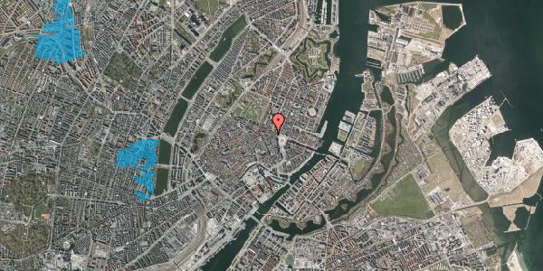 Oversvømmelsesrisiko fra vandløb på Ny Adelgade 7, 2. th, 1104 København K