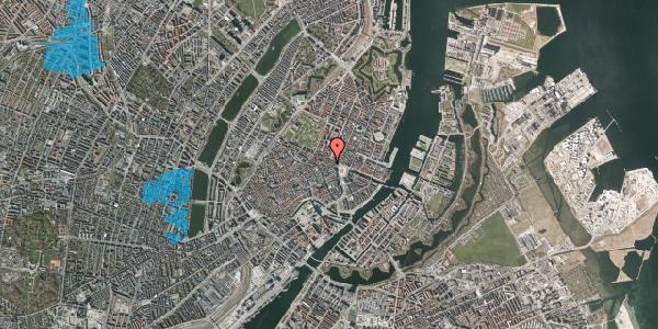 Oversvømmelsesrisiko fra vandløb på Ny Adelgade 9, 1. th, 1104 København K