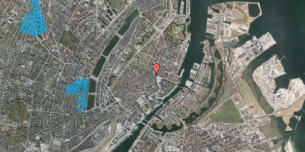 Oversvømmelsesrisiko fra vandløb på Ny Adelgade 12, 3. th, 1104 København K