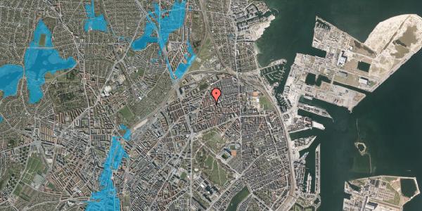 Oversvømmelsesrisiko fra vandløb på Nygårdsvej 50, st. , 2100 København Ø