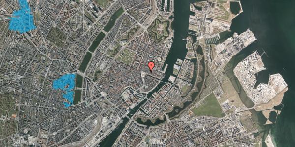 Oversvømmelsesrisiko fra vandløb på Nyhavn 1, st. , 1051 København K