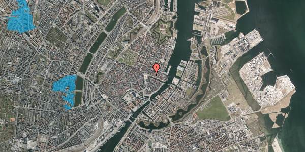 Oversvømmelsesrisiko fra vandløb på Nyhavn 13, st. , 1051 København K