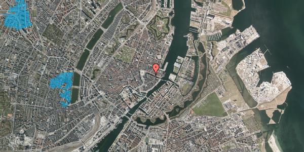 Oversvømmelsesrisiko fra vandløb på Nyhavn 14, st. , 1051 København K